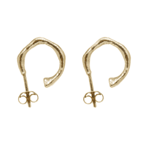 Wabi Sabi small hoops in gold
