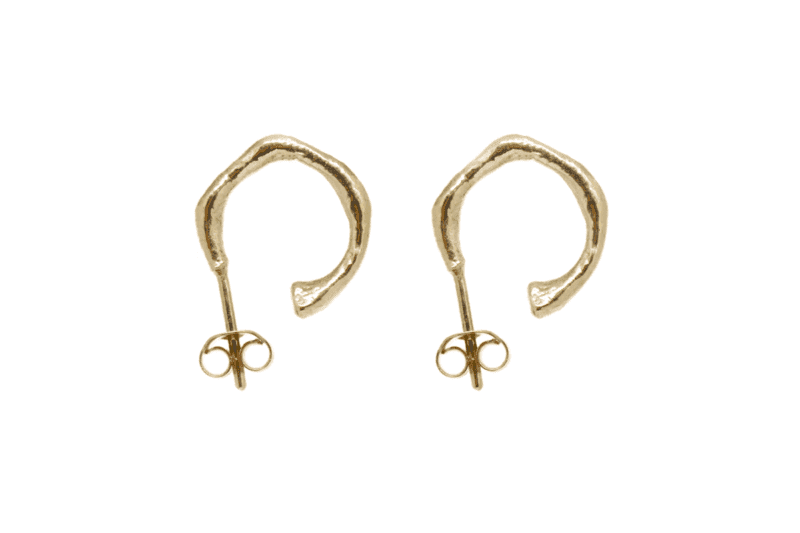Wabi Sabi small hoops in gold