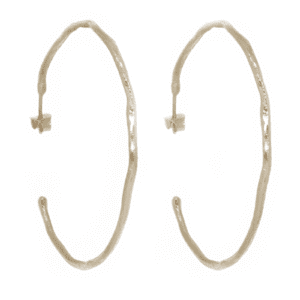 Wabi Sabi hoops in gold