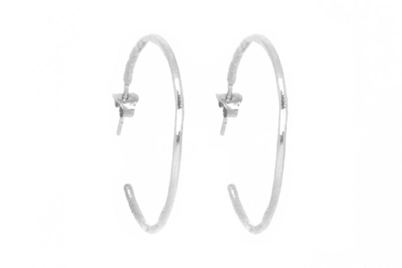 Wabi Sabi silver hoops