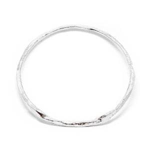 Wabi Sabi bracelet, armring in silver
