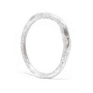 Wabi Sabi silver ring with an organic design