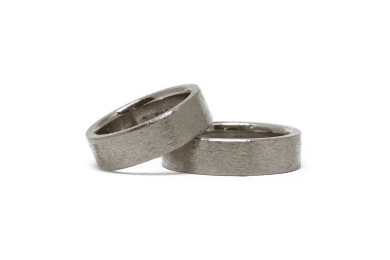 Wabi Sabi wedding ring in white gold, norway