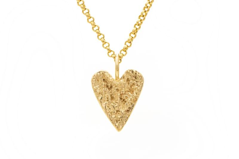 Fråst gull hjerte lite