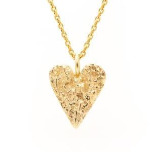 Fråst gull hjerte stort
