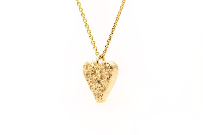 Smykke gull hjerte