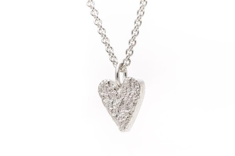 Smykke sølv hjerte