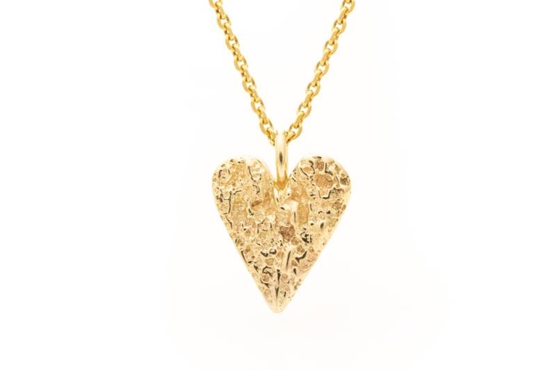 Smykke - gull hjerte, stort