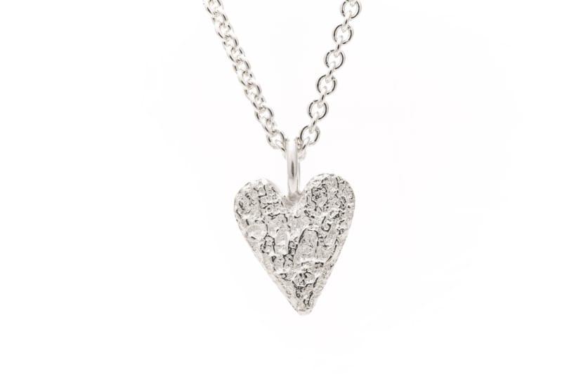 Smykke, sølv hjerte, lite