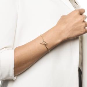 Wabi Sabi Vår armbånd i gull